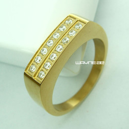 Size 7-9 Jewelry Woman's 18k Gold Filled Stainless steel Engagement Ring r249