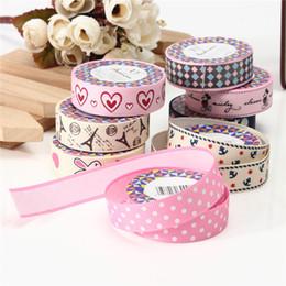 Wholesale Selling Decorative Tape - Top Selling Fashion Design Lovely Cartoon Fabric Satin Craft Tape Sticky Adhesive Decorative Ribbon Trim Decor