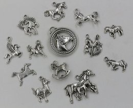 Wholesale Hot Tibetan Silver Mixed Horse Charm Pendant For Jewelry Making Craft DIY style