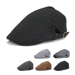 Wholesale 2015 hot newsboy hats new fashion mens womens solid color beret cap newsboy Caps Spring Forward hat Baseball cap factory price Q436