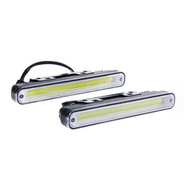 Wholesale 2pcs Waterproof W K K COB LED Lights DRL Daytime Running Light Auto Lamp For Universal Car