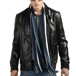 Wholesale Popular Style Men Fashion Jackets Black Man PU Leather Coats Size M XL Man Spring Motor Jackets Top Quality Male Outerwear LM01002
