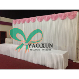 White Color Wedding Backdrop Curtain With Top Swags Include The Stand \ Stent Pipe