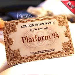 Wholesale Hogwarts School of Witchcraft and Wizardry Harry potter Train tickets gift for children Nine and three quarters for tickets