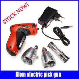 Promotion prendre ensemble des armes à feu KLOM Cordless verrouillage électrique Choisissez Gun Outils de serrurier verrouillage Choisissez Set vente chaude navire rapide en stock