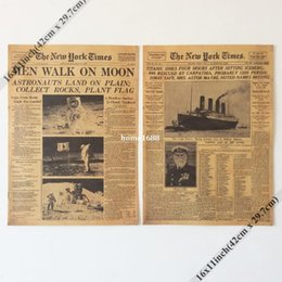 Wholesale Mixed order and combine shipping Vintage Style Retro Paper Poster quot x quot New York Times news paper