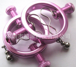 1 pair Sexy metal nipple clamps breast clips sex toys for women,fun sex products adult game toys