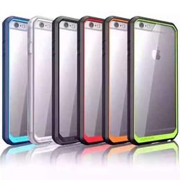 Supcase Case hybride TPU Bumper clair transparent Hard Cover PC pour iPhone 5S 6 plus i6 bord Samsung Galaxy S6 Plus Note 5 à partir de pare-chocs 5s transparent fabricateur