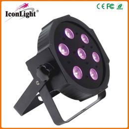 China Wholesale Price DMX LED 7pcs*10W 4in1 Flat Slim Par Light for Stage Par Lighting (ICON-A032)