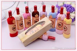Wholesale 2015 New fashiion Red wine cake towel cotton towel cm cake towel baby shower favors wedding birthday Party Decorations supplies