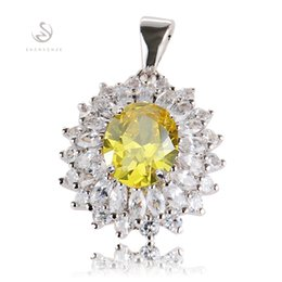 First class products Vintage Noble Generous Hot MN460 beautiful Yellow Cubic Zirconia Rock Copper Rhodium Plated Punk Promotion Pendants