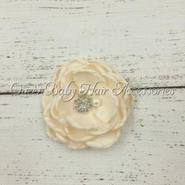 New Style Baby Hair clip Satin Poppy flower Handmade Flower Infant Girl Hair Clips 10pcs lot