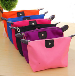 Wholesale 10 Colors High Quality Lady MakeUp Pouch Cosmetic Make Up Bag Clutch Hanging Toiletries Travel Kit Jewelry