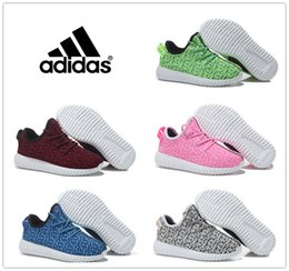 Wholesale Adidas Boys Girls Children s Athletic Shoes Yeezy Boost Running Shoes Kids Casual Boots Babys New Cute Walking Shoes