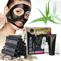 Wholesale mask gas Steps Facial Mask Set Pc Activated Carbon Cream Acne Scars Remover Mite Face Care Treatment Blackhead Skin Care
