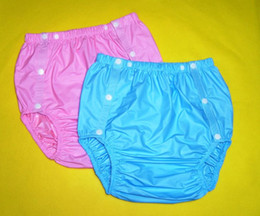 Wholesale FUUBUU2203 BLUE PINK adult plastic pants plastic diaper pants adult diaper cover plastic pants incontinence