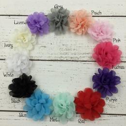 Mini Chiffon Flower Petti Layered Flower Baby Girl Hair Accessory Without Clip Falt Back 60pcs lot