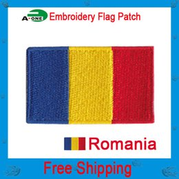 romania flag patch Diy fabric exquisite embroidery stickers patch clothes applique national flag embroidered country flag patches free shipp