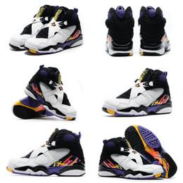 Wholesale With shoes Box High Quality Retro VIII Playoffs Bugs Bunny Aqua Chrome Women Men Basketball Sport Trainers Shoes