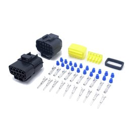 Wholesale 1 Set Pins Way Black AMP Series Connector Kits Female Male Auto Connector Plugs New Car Part Best Price
