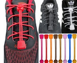Wholesale A Pair Of Locking Shoe Laces Elastic Shoelaces Shoestrings Running Jogging Triathlon Sports Fitness