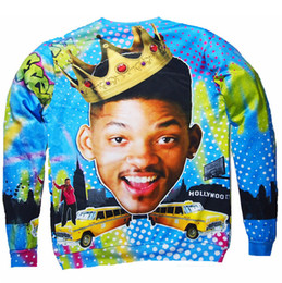 Wholesale-Fall 2016 New Crewneck Sweatshirt Sexy Sweats Will Smith Fresh Prince Bel Air vibrant jumper Tops Unisex Women Men Free shipping
