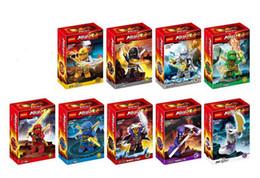Wholesale 4 cm ninjago minifigures decool ninja mini figure spinjitzu toy Skylor Cole Zane building blocks cheap LY