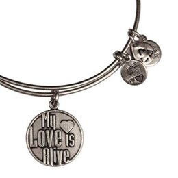 Wholesale Alex and Ani My Love Is Alive Expandable Wire bass copper Bangle Antique gold and silver man and women s style jewels