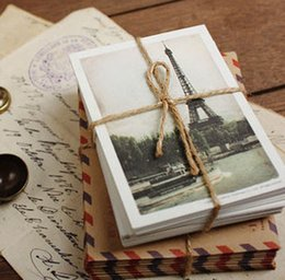 Wholesale vintage antique post office seal Stamps PC postcard PC kraft paper envelope PC bookmark cards DIY gift craft whcn