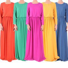 Abaya Kaftan Muslim maxi dress Abaya Islamic long sleeve Print Dress Muslim Women Large Size clothing S757M