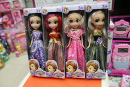 Wholesale Princess sofia the first doll New In Box cm quot tall Girl s Princess Sofia The First Dress and Shoes Doll Toy mixed colors KT01