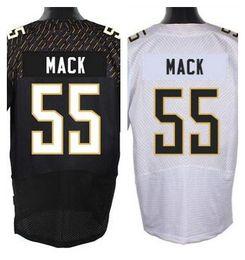 Wholesale Factory Outlet New Alex Mack probowl Men Elite Football Jersey stitched Mack pro bowl black white jerseys size M XL