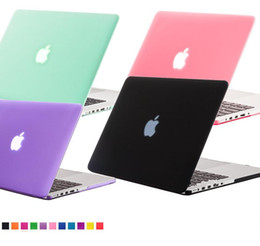 Wholesale Cover For Apple Macbook Pro - Matte Crystal Rubberized Frosted Hard Plastic Case Cover Laptop Shell For Apple Macbook Air 11 Pro 13 15 12 with Retina