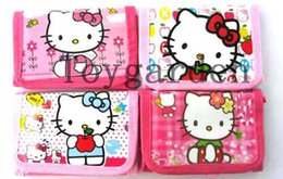 Wholesale 24PCS hello kitty wallet cute KT coin purse cartoon pocket for girls children best gift