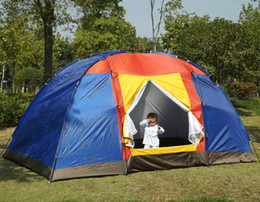 Wholesale Camping Tent Family Tents New Outdoor Large Tourism Self Driving Waterproof UV Pest Control Ventilation Mesh Warm Provide Disaster Relief