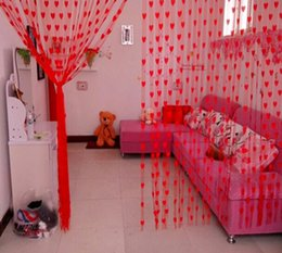 Wholesale Heart Shape Line Curtain for Partition Wall Vestibule Door Curtain Colors