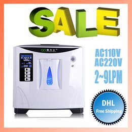 Wholesale 9LPM PSA process Portable Home Oxygen Concentrators Anion O2 Oxygen Therapy Ultra Quiet Atomization function Pet Oxygen therapy too