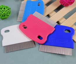 Wholesale 10pcs Pet cleaning supplies Pet fleas comb Dog cat fine toothed comb cm g