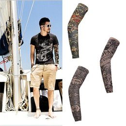 Wholesale 38cm pc Arm Warmers Cuff Sleeve Cover Anti UV Protection Oversleeve Novel Cool Tattoo Print Cycling Bike Bicycle Arm warmers