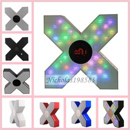 Wholesale S1 quot X quot Model Cool Styling Bluetooth Speaker Wireless Colorful Flashing Lights Super Bass Stereo Loudspeaker Support TF USB Outdoor Speaker