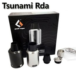 Wholesale Clone Geekvape Tsunami RDA Vaporizer Kennedy style airflow Improved Velocity style deck atomizer Black Silver For Electronic cigarettes mods