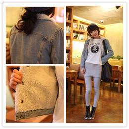2014 Autumn Winter New Women Berber Fleece Warm Jean Jacket Vintage Fashion Ladies Thermal Denim Jackets Coat
