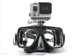 Wholesale underwater diving mask for gopro hero camera accessories tempered glass lens adult diving for Hero1