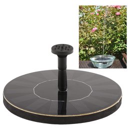 Wholesale Solar power Fountain Brushless Pump Plant Water Watering Kit Monocrystalline Solar Panel for Bird Bath Garden Pond Energy saving H14945