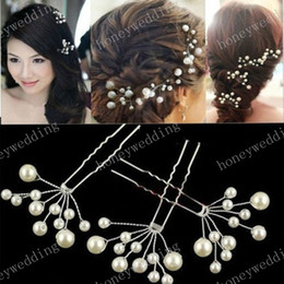 Wedding Bridal Hair Accessories 3pcs Bridesmaid Pearl Flower Headpiece Hair Pins Hair Pin Jewellery Bride Headdress
