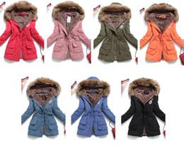 Wholesale Discount Women Lamb Fur Collar Coat Big Yards Long Padded Girl Winter Warm Thick Coat Plus Size Female Jacket