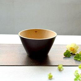 Wholesale MUXING Trapezoid Salad Bowl cm Black Cedarwood Soup Bowl Japanese Style Cooking Tools MOQ piece