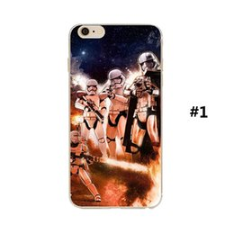 Wholesale Star Wars war starwars case The force awakens darth vader BB BB8 robot tpu soft cases back cover for iphone s plus s cell phone case