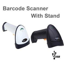 Wholesale USB Automatic Sensing Wired Laser Barcode Scanner Scaner Bar Code Scanning Reader with Stand LED Indicator POS scans sec C1825