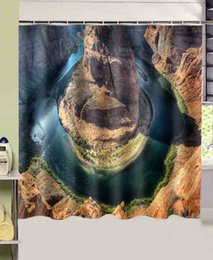 Wholesale bathroom products Grand Canyon Horseshoe Bend printed cmx180cm polyester fabric Shower Curtain rideau de douche